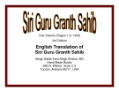 English Translation of Siri Guru Granth Sahib