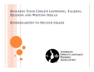 BUILDING YOUR CHILD'S LISTENING, TALKING,  READING AND WRITING SKILLS