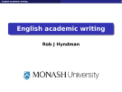 English academic writing by Rob J Hyndman