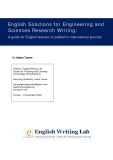 English Solutions for Engineering and  Sciences Research Writing:  A guide for English learners to publish in international journals
