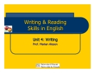 WRITING & READING SKILLS IN ENGLISH - UNIT 4: WRITING