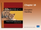 Chapter 18 Exception Handling