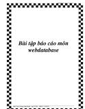 Bài tập báo cáo môn webdatabase