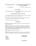Quyết dịnh số 753/QĐ-BGDĐT