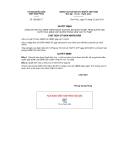 Quyết định số 392/QĐ-CT