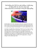 Ảnh hưởng của NH3 lên sinh trưởng và khả năng sử dụng thức ăn của tôm càng xanh (Macrobrachium rosenbergii) trong giai đoạn giống