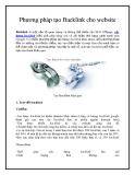 Phương pháp tạo Backlink cho website