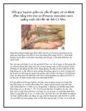Hồi quy logistic giữa các yếu tố nguy cơ và bệnh đốm trắng trên tôm sú (Penaeus monodon) nuôi quảng canh cải tiến tại tỉnh Cà Mau
