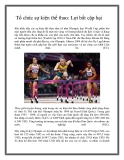 Tổ chức sự kiện thể thao: Lợi bất cập hạiTổ chức sự kiện thể thao: Lợi bất cập hại