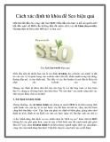 Cách xác định từ khóa để Seo hiệu quả
