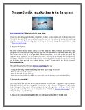 5 nguyên tắc marketing trên Internet