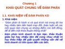 Bài giảng kỹ năng đàm phán - Chương 1