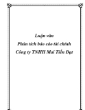 Luận văn Phân tích báo cáo tài chính Công ty TNHH Mai Tiến Đạt