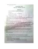 Đề thi hết môn học lỳ II năm học 2012 - 2013 Môn Nguyên Lý Thống Kê Kinh Tế  - Đề thi số 1