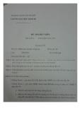 Đề thi hết môn học lỳ II năm học 2012 - 2013 Môn Phân tích chi phí và lợi ích - Đề thi số 3