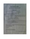 Đề thi hết môn học lỳ II năm học 2012 - 2013 Môn Kinh tế vĩ mô II - Đề thi số 2
