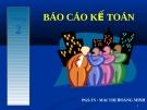 Bài giảng về: Báo cáo kế toán