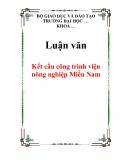 Luận văn: Kết cấu công trình viện nông nghiệp Miền Nam
