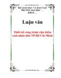 Luận văn: Thiết kế công trình viện kiểm soát nhân dân TP.Hồ Chí Minh