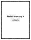 Du lịch homestay ở Malaysia