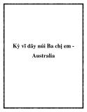 Kỳ vĩ dãy núi Ba chị em Australia