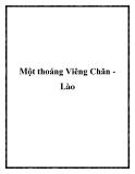 Một thoáng Viêng Chăn Lào
