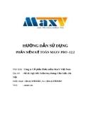 Hướng dẫn sử dụng phần mềm kế toán MaxV Pro - 12.2