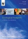 Ecological footprint of British city residents