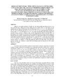"""BÁO CÁO """" KHÀO SÁT MỘT SỐ ĐẶC TÍNH CHỦNG BACILLUS SUBTILIS B20.1 LÀM CƠ SỞ CHO VIỆC SẢN XUẤT PROBIOTIC PHÒNG BỆNH GAN THẬN MŨ DO EDWARDSEILLA ICTALUTI TRÊN CÁ TRA (PANGASIUS HYPOPHTHALMUS) NUÔI THÂM CANH """""""
