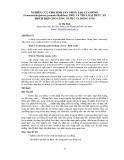 """BÁO CÁO """" NGHIÊN CỨU CHO SINH SẢN NHÂN TẠO CUA ĐỒNG (Somanniathelphusa germaini Rathbun, 1902) VÀ TÌM LOẠI THỨC ĂN THÍCH HỢP CHO ƯƠNG NUÔI CUA ĐỒNG CON """""""