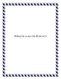 10 bài ca dao chủ đề hát ru