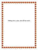 Những bài ca dao chủ đề hát ru con truyền miệng
