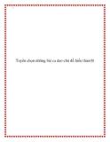 Chọn lọc một số bài ca dao chủ đề hiếu thảo