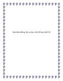 Sưu tầm những bài ca dao chủ đề hẹn ước tình duyên