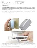 Giải pháp lắp đặt camera với công nghệ PLC