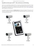 Lắp đặt camera quan sát IP - Giá camera Ip và chất lượng