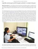 Lắp đặt camera quan sát hỗ trợ giám sát hành vi vi phạm hải quan
