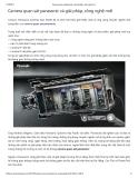 Camera quan sát panasonic và giải pháp, công nghệ mới