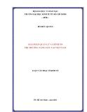 GIải pháp quản lý và  bình ổn thị trường xăng dầu VIệt Nam