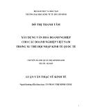 Luận văn:  Xây dựng văn hoá doanh nghiệp cho các doanh nghiệp Việt Nam  trong xu thế hội nhập kinh tế quốc tế
