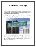 Uy tín của lãnh đạo