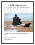 Lý do thất bại của nhà quản lý