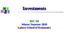 Winter Semester 2010 Lahore School of Economics