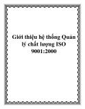 Giới thiệu hệ thống Quản lý chất lượng ISO 9001:2000