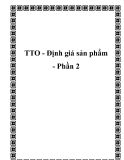 TTO - Định giá sản phẩm - Phần 2