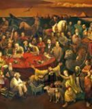 103 nhân vật lịch sử nổi tiếng thế giới trên một bức họa