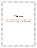 Tiểu luận: HOẠT ĐỘNG XUẤT KHẨU CÀ PHÊ SANG THỊ TRƯỜNG MỸ CỦA CÔNG TY CP XNK INTIMEX