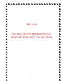 """TIỂU LUẬN:  THỰC HIỆN CHƯƠNG TRÌNH KHUYẾN MÃI"""" VUI ĐÓN TẾT CÙNG SONY"""" VÀO DỊP TẾT 2012"""