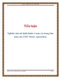 Tiểu luận: Nghiên cứu mô hình hành vi mua và trung tâm mua của TMT Motor coporation