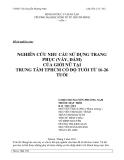 Tiểu luận:NGHIÊN CỨU NHU CẦU SỬ DỤNG TRANG PHỤC (VÁY, ĐẦM) CỦA GIỚI NỮ TẠI TRUNG TÂM TPHCM CÓ ĐỘ TUỔI TỪ 16-26 TUỔI